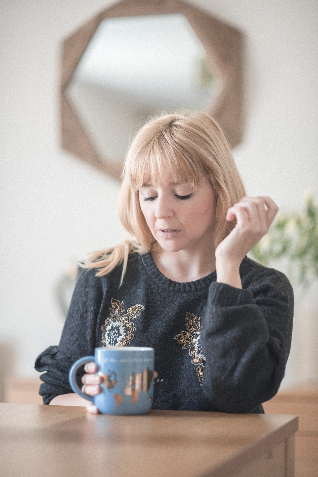The dangers of laxative abuse in eating disorders - Beth Anne sits looking thoughtful